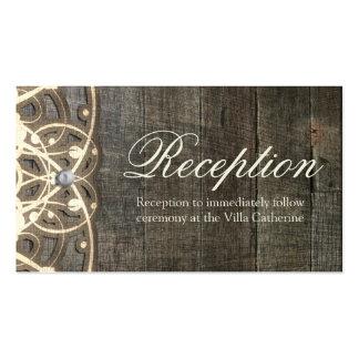 Este cordón del país y tarjeta rústica de madera tarjetas de visita