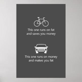 Éste corre en la grasa y le ahorra dinero… póster