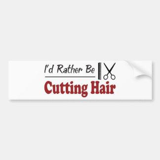 Esté cortando bastante el pelo etiqueta de parachoque