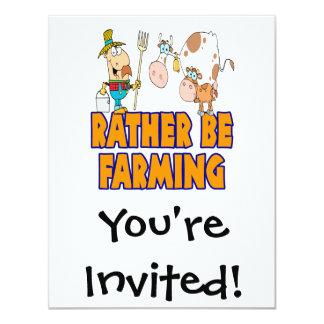 """esté cultivando bastante el granjero y vacas invitación 4.25"""" x 5.5"""""""