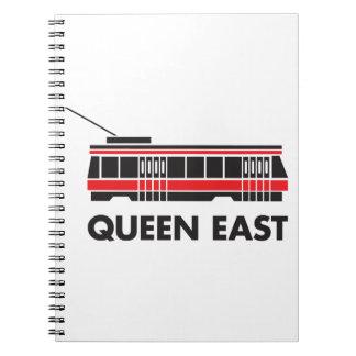 Este de la reina (Toronto) y tranvía Libretas