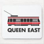 Este de la reina (Toronto) y tranvía Mouse Pad
