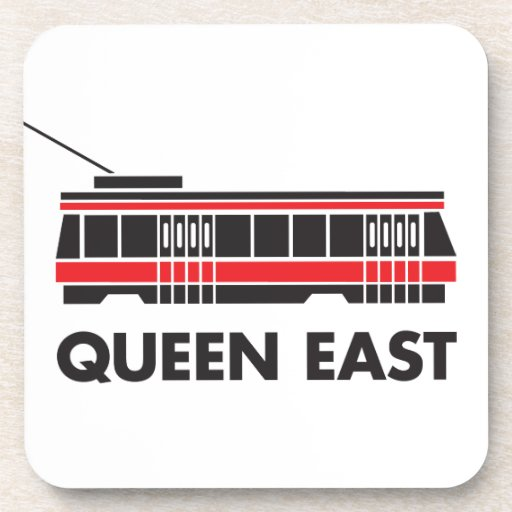 Este de la reina (Toronto) y tranvía Posavasos