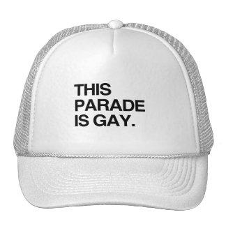 Este desfile es gay gorras de camionero