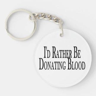 Esté donando bastante sangre llavero redondo acrílico a doble cara