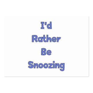 Esté dormitando bastante tarjeta de visita