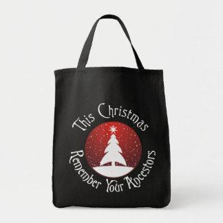 Este el navidad recuerda a sus antepasados bolsa