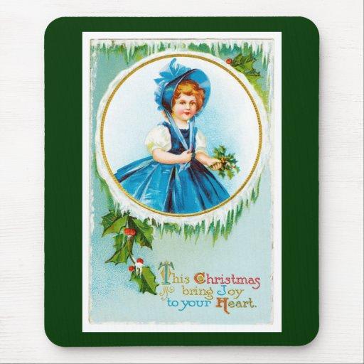 Este el navidad trae alegría a su corazón tapetes de ratón