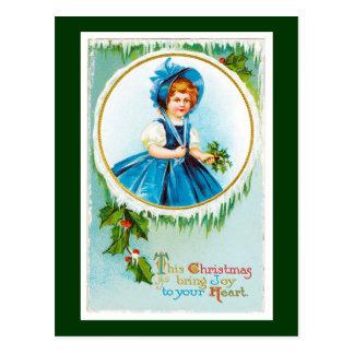 Este el navidad trae alegría a su corazón tarjeta postal