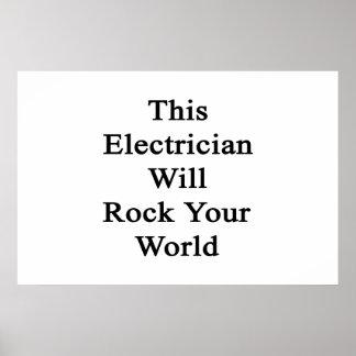 Este electricista oscilará su mundo póster