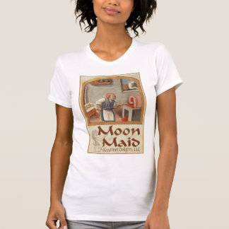 Esté en la luna el logotipo de la criada camisetas