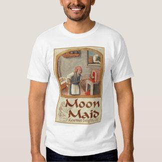Esté en la luna el logotipo de la criada playera