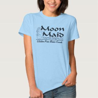 Esté en la luna el logotipo de la criada remera