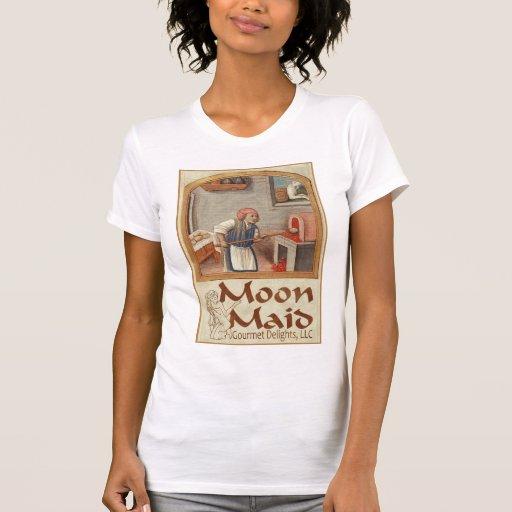 Esté en la luna el logotipo de la criada tshirts