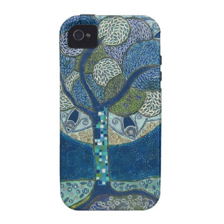 Esté en la luna en la pintura de la floración - ca Case-Mate iPhone 4 carcasas