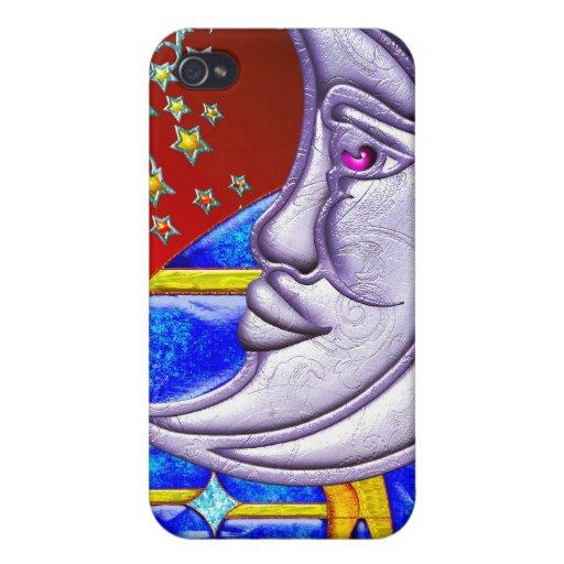 Esté en la luna, estrellas y una noche de verano - iPhone 4/4S carcasas