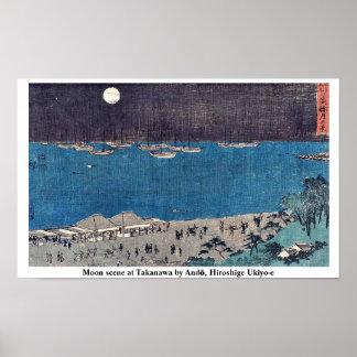 Esté en la luna la escena en Takanawa por Andō Hi Impresiones