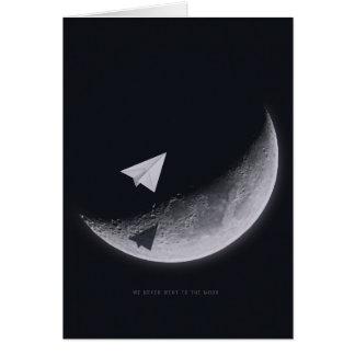 Esté en la luna, tarjeta de felicitación, sobres