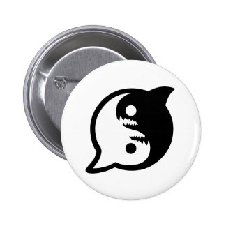 Esté en la paz con el botón trasero del Pin de los