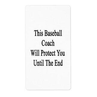 Este entrenador de béisbol le protegerá hasta el etiquetas de envío