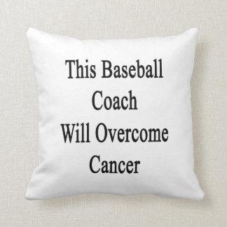 Este entrenador de béisbol superará al cáncer almohada