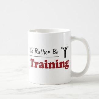 Esté entrenando bastante tazas de café