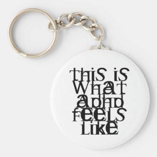 Éste es ADHD Llavero Redondo Tipo Pin