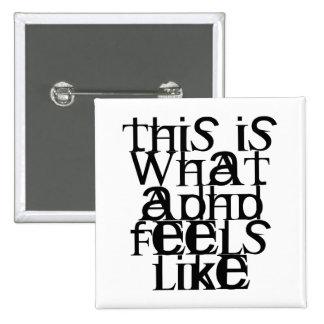 Éste es ADHD Pin Cuadrada 5 Cm