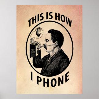 Éste es cómo llamo por teléfono poster