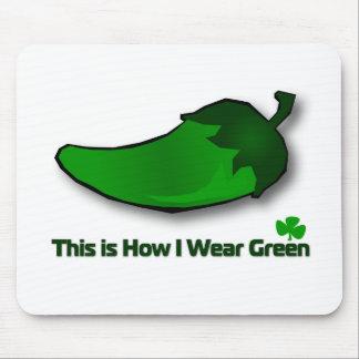 Éste es cómo llevo verde alfombrillas de ratón