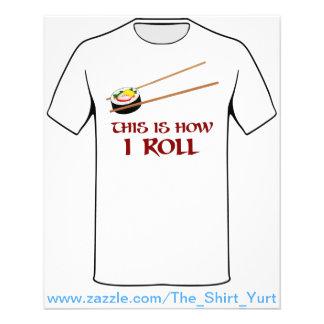 """Éste es cómo rollo de sushi de I Folleto 4.5"""" X 5.6"""""""
