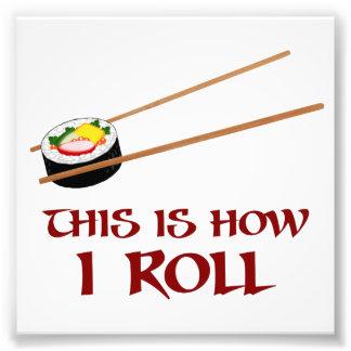 Éste es cómo rollo de sushi de I Fotografía
