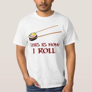 Éste es cómo rollo de sushi de I Playera