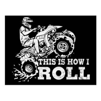Éste es cómo ruedo - ATV (todo el vehículo del Tarjeta Postal