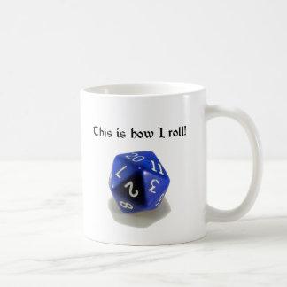 Éste es cómo ruedo (d20) taza de café