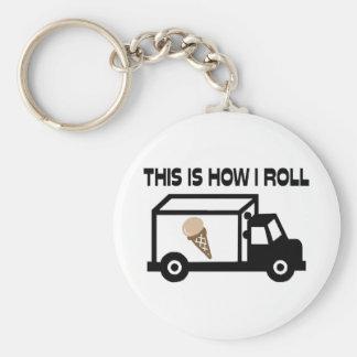 Éste es cómo ruedo el camión del helado llavero redondo tipo pin