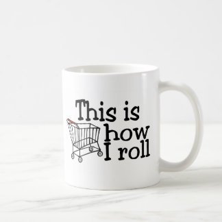 Éste es cómo ruedo (el carro de la compra) taza básica blanca
