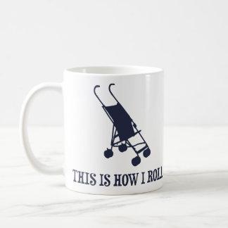 Éste es cómo ruedo el cochecito de bebé taza de café
