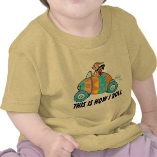 Éste es cómo ruedo el conejito de pascua camisetas