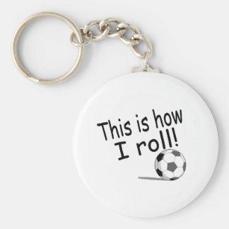 Éste es cómo ruedo (el fútbol) llavero redondo tipo pin