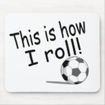 Éste es cómo ruedo (el fútbol) tapetes de raton