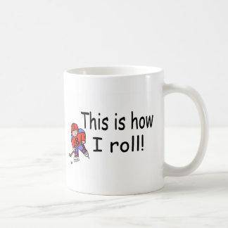 Éste es cómo ruedo (el hockey) taza de café