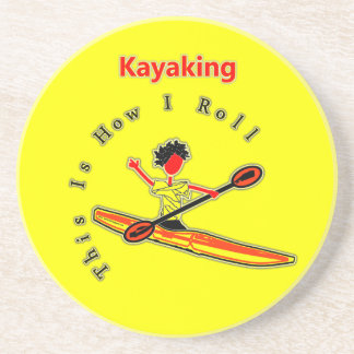 Éste es cómo ruedo (el kajak) posavasos diseño