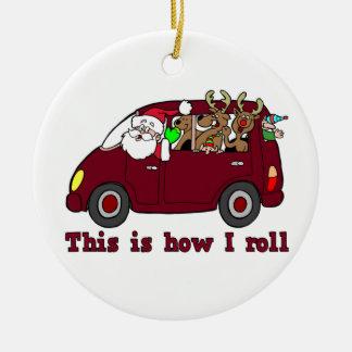 Éste es cómo ruedo el ornamento de Santa Ornamento De Reyes Magos