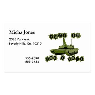 Éste es cómo ruedo el tanque tarjetas de visita