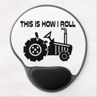 Éste es cómo ruedo el tractor de cultivo alfombrilla de raton con gel