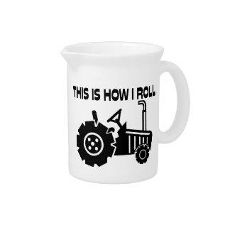 Éste es cómo ruedo el tractor de cultivo jarra para bebida