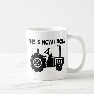 Éste es cómo ruedo el tractor de cultivo tazas