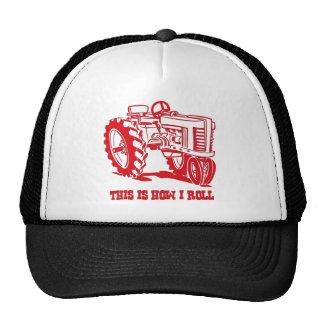 Éste es cómo ruedo el tractor Red Hat Gorro De Camionero