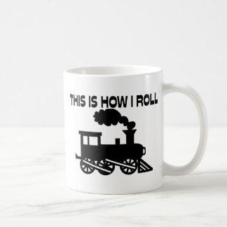 Éste es cómo ruedo el tren tazas